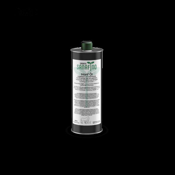 Organic hemp oil, cold pressed, 250ml