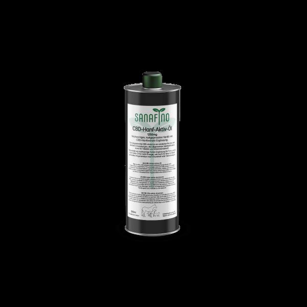 CBD Hanf Aktiv Öl für Tiere, 250ml mit 1250mg CBD-Anteil.